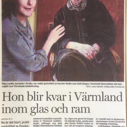 Hon blir kvar i Värmland – inom glas och ram