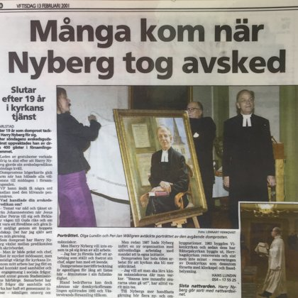 Många kon när Nyberg tog avsked
